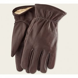 BROWN BUCKSKIN LEATHER - LINED GLOVE