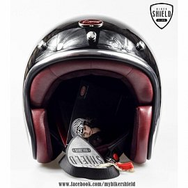 Barock Glass Fiber Helmet - Shiny Black